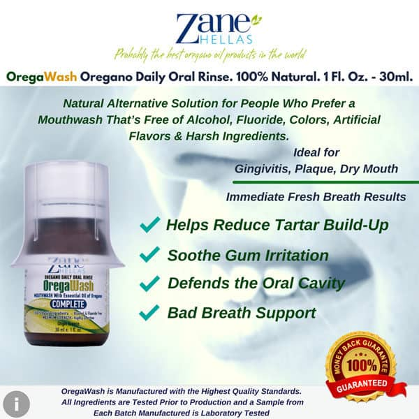 mouthwash, natural mouthwash, oregano mouthwash, oral care